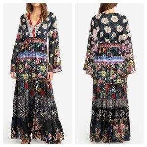 Johnny Was Silk Floral Dunas Maxi Dress. Medium